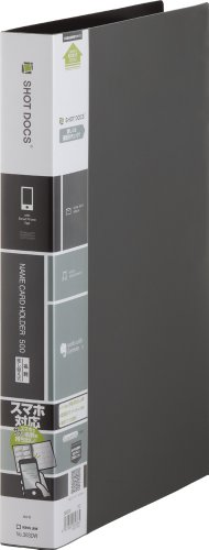 キングジム 名刺ホルダー ショットドックス 差替式 A4 36SDW 黒