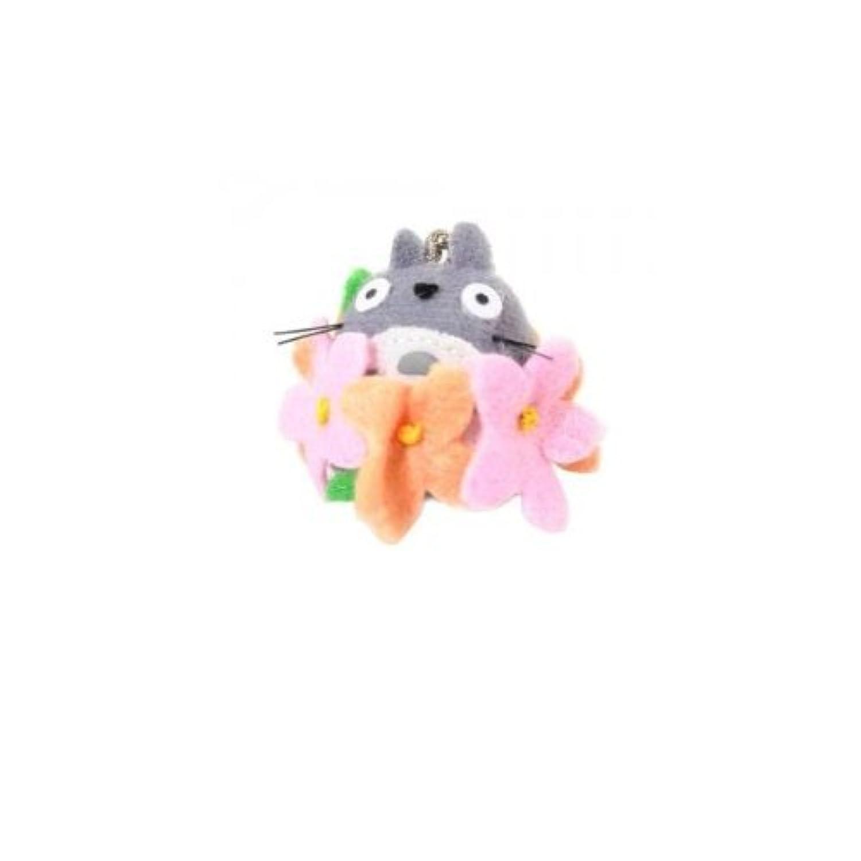 スタジオジブリ となりのトトロ ジブリコレクション 大トトロとお花 ボールチェーン付マスコット 高さ3cm
