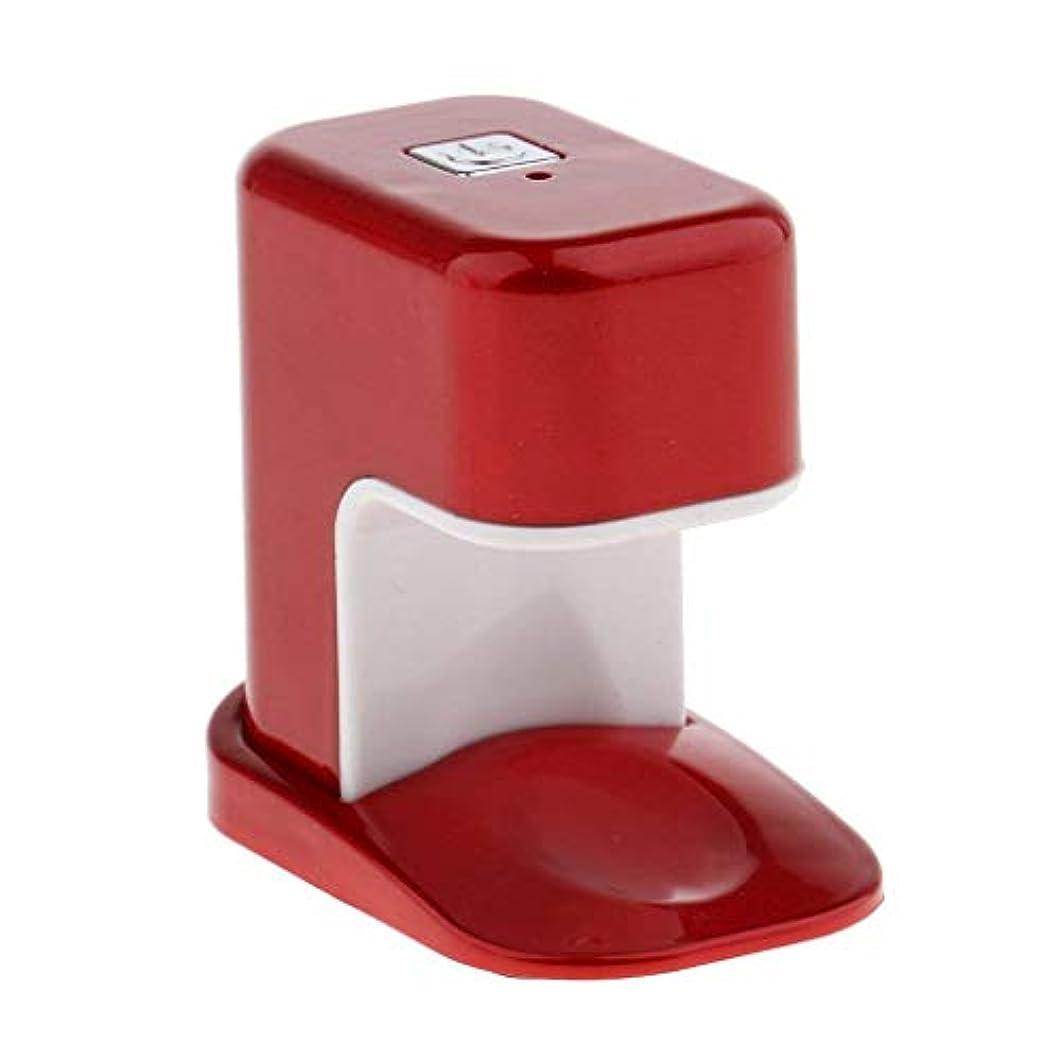 受付ソビエトカヌーPaick ネイルドライヤー 3W LED電球 USBケーブル UV マニキュアドライヤー ニポータブル単一指ネイルアートのLED 3色選べ - 赤