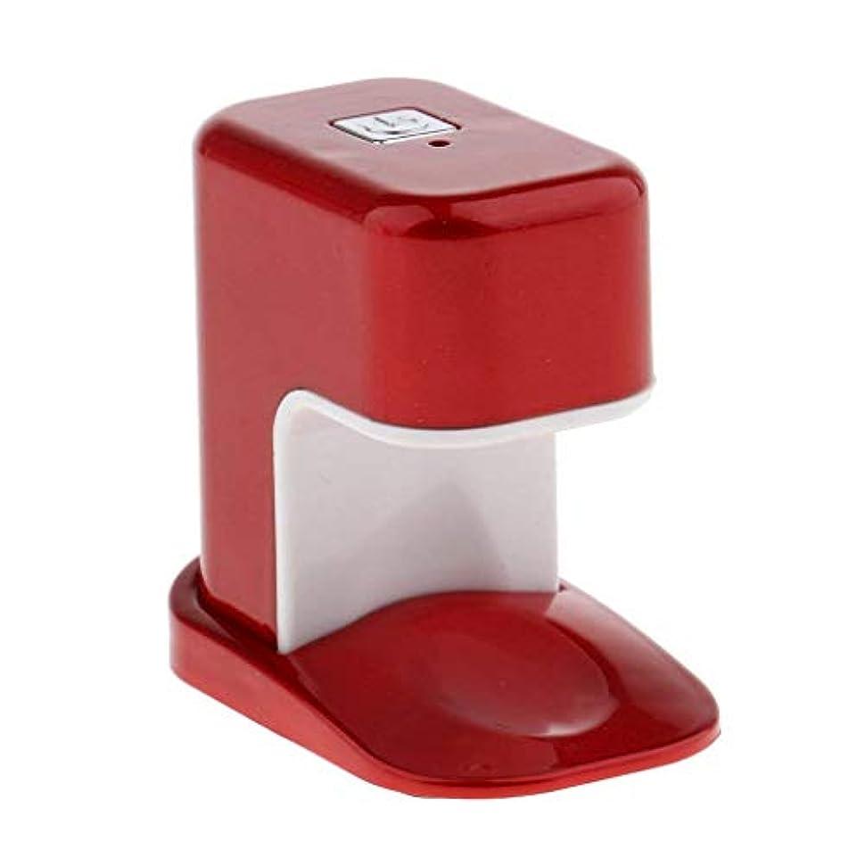 不機嫌そうなガロン浮浪者Paick ネイルドライヤー 3W LED電球 USBケーブル UV マニキュアドライヤー ニポータブル単一指ネイルアートのLED 3色選べ - 赤