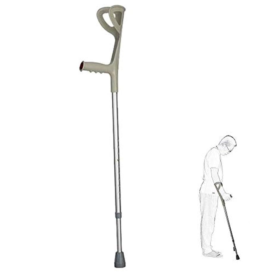 カッター年齢木製高齢者/女性/人の医学のリハビリテーションの松葉杖に適した杖アルミ合金の快適なハンドルのすべり止め (Color : 1pcs)