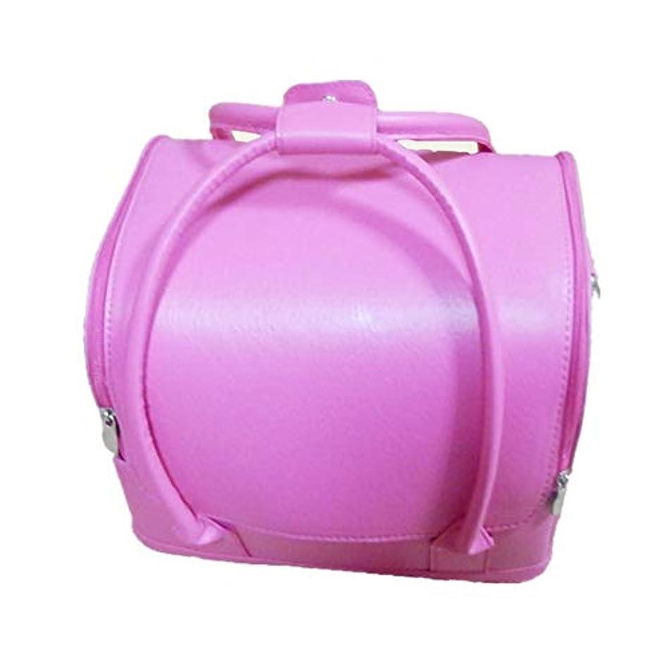 説明的地質学好み化粧オーガナイザーバッグ 美しいメイクアップのための純粋な色ポータブル化粧品袋と女性の女性の旅行とジッパーで毎日のストレージ 化粧品ケース