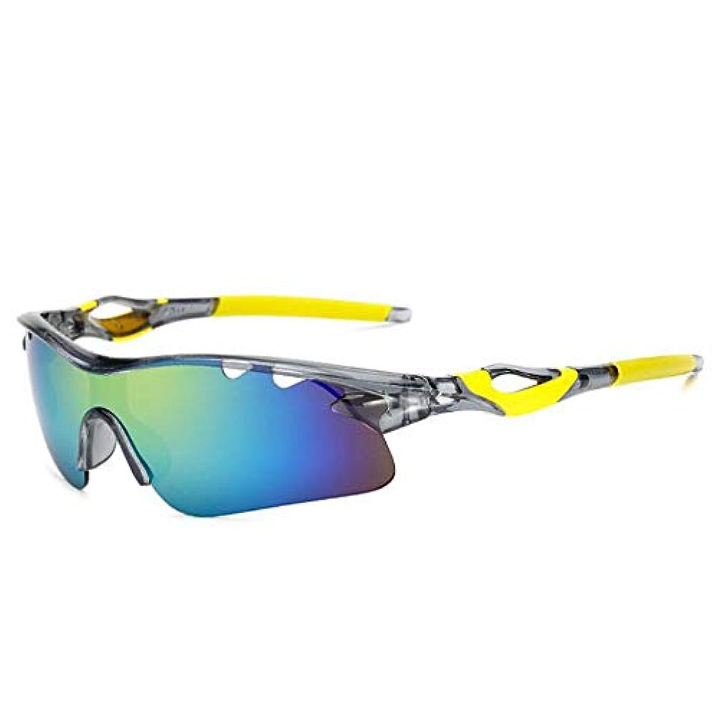 深遠ヘルメット溶けた偏光スポーツサングラス交換レンズ スポーツサングラス保護サイクリングメガネ偏光UV400用サイクリング、野球、釣り、スキーランニング、ゴルフ 自転車/山/運転/野球/自転車/釣り/ランニング/ゴルフなどの野外活動男女
