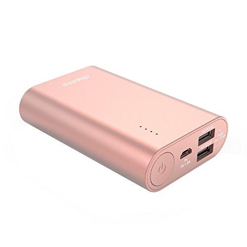 cheero Power Plus 3 10050mAh 大容量 モバイルバッテリー [ PSE取得済 ] 2USBポート 超コンパクト 携帯充電器 iPhone/iPad/Android/Xperia/Galaxy/各種スマホ/タブレット/ゲーム機/Wi-Fiルータ 等 急速充電 対応 ハイパワー出力 AUTO-IC機能搭載 CHE-072-RG (ローズゴールド)