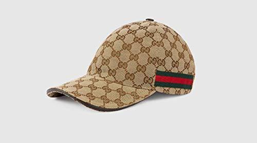 449779fd グッチ)GUCCI 古典的なメンズとレディースストライプリボンGGキャンバス野球帽