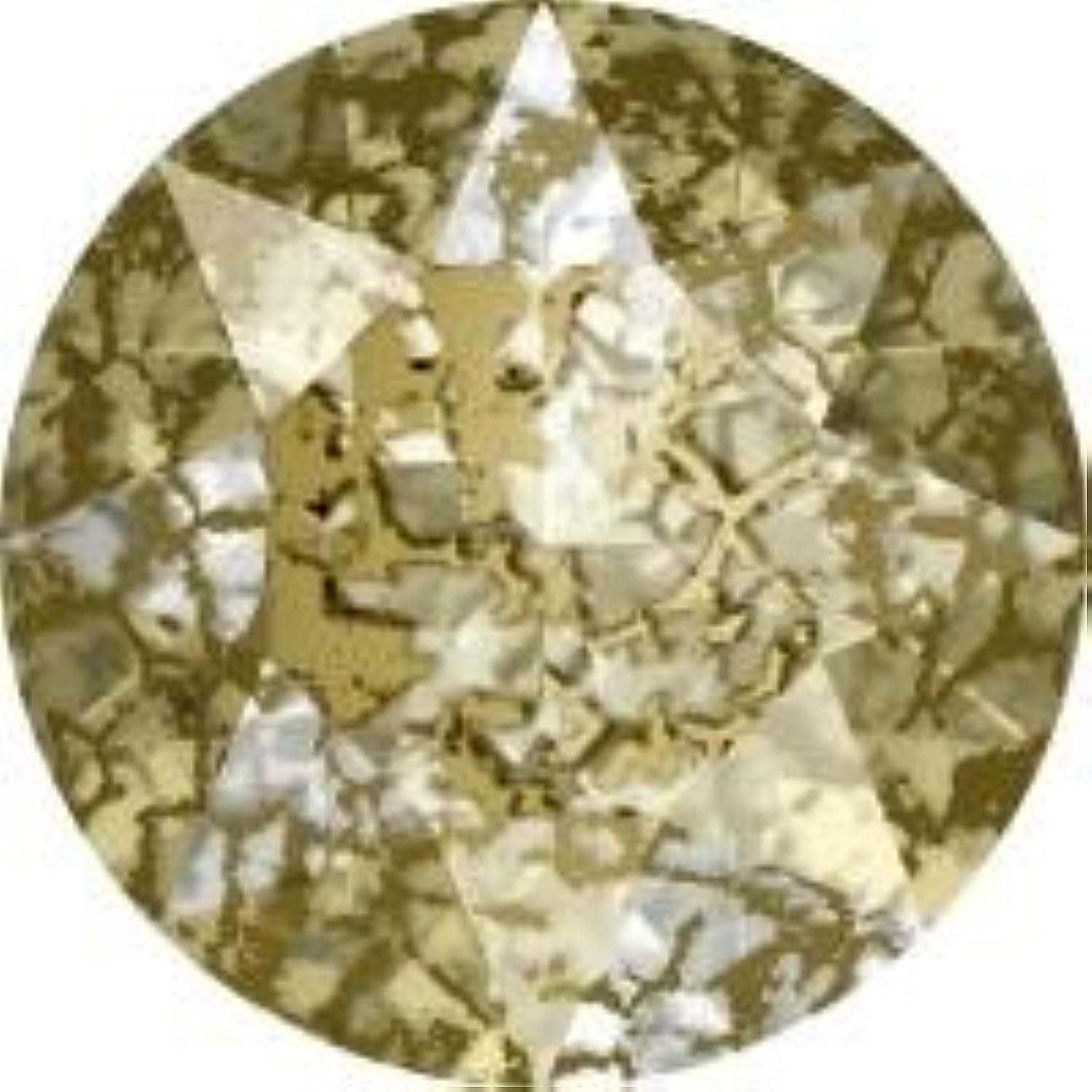 バック提供された乱暴なスワロフスキー Vカット(埋込型) #1088 ●パティナシリーズ● クリスタルゴールドパティナ ss24(約5.2mm) 4粒入
