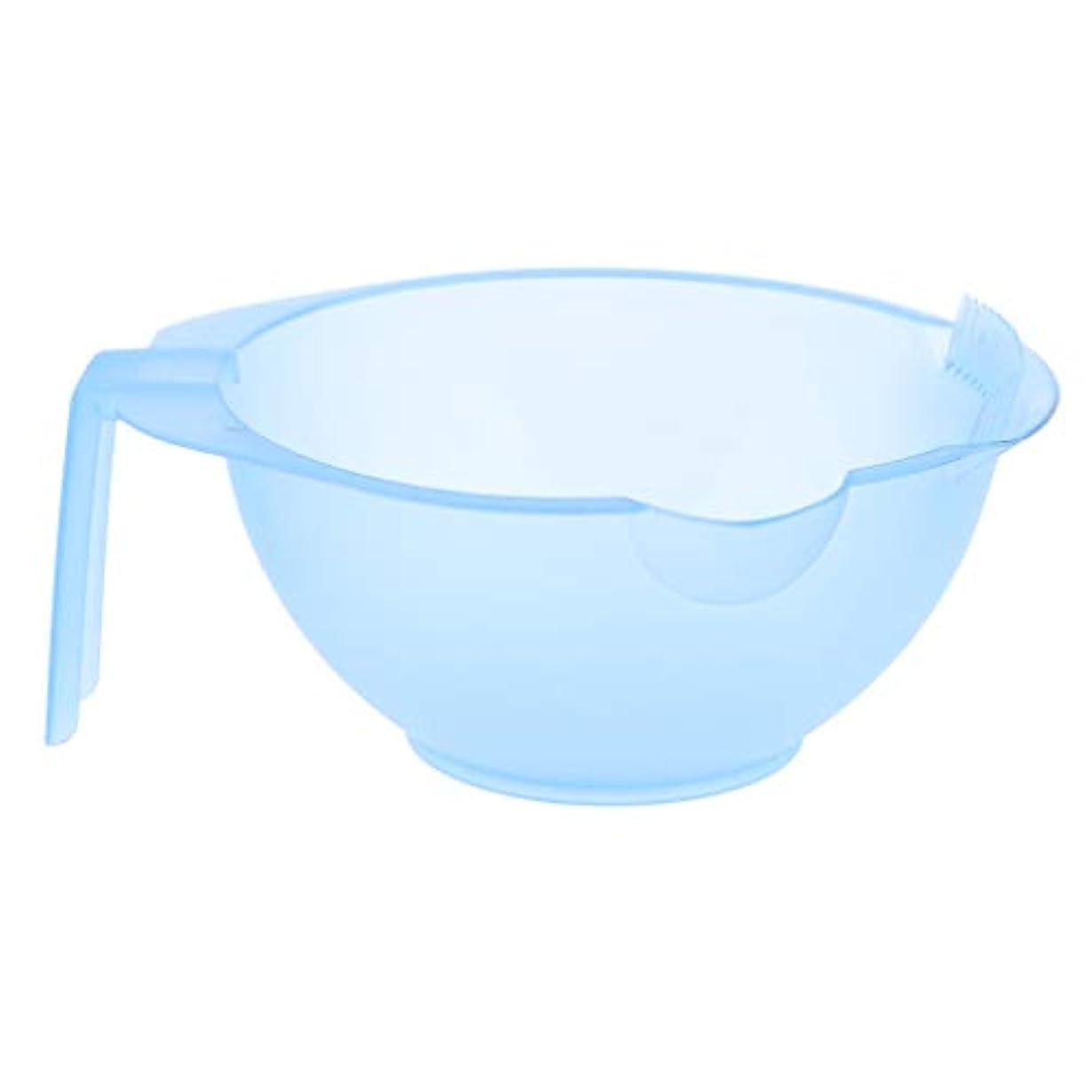 ランプ市場セミナーF Fityle ヘアカラーボール ヘアサロン ヘアダイミキシングボウル エッジ付き 5色選べ - 青