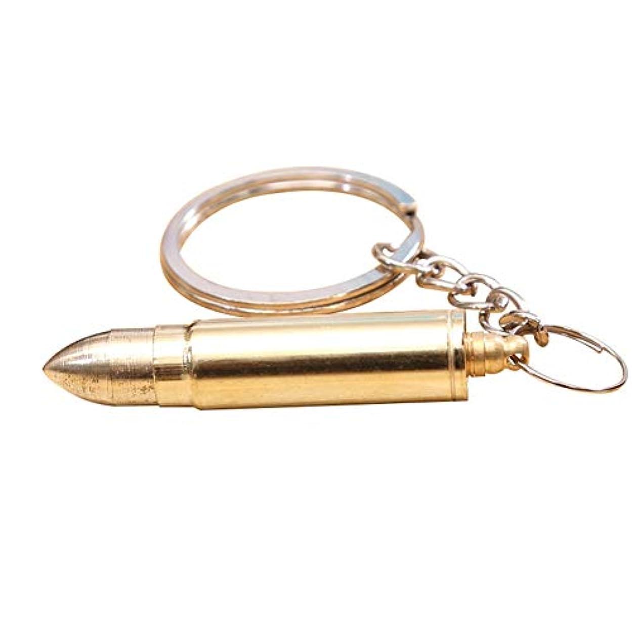 洞察力普遍的なファッションZHQI-GH 弾丸形の耳垢クリーナーポータブル折りたたみ式の耳のワックスの取り外しツール耳のスプーンの耳かき付きキーホルダー27 (色 : Gold, Size : 1pcs)