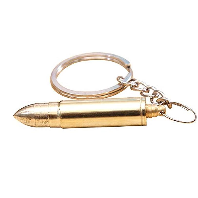送料海峡ひものZHQI-GH 弾丸形の耳垢クリーナーポータブル折りたたみ式の耳のワックスの取り外しツール耳のスプーンの耳かき付きキーホルダー27 (色 : Gold, Size : 1pcs)