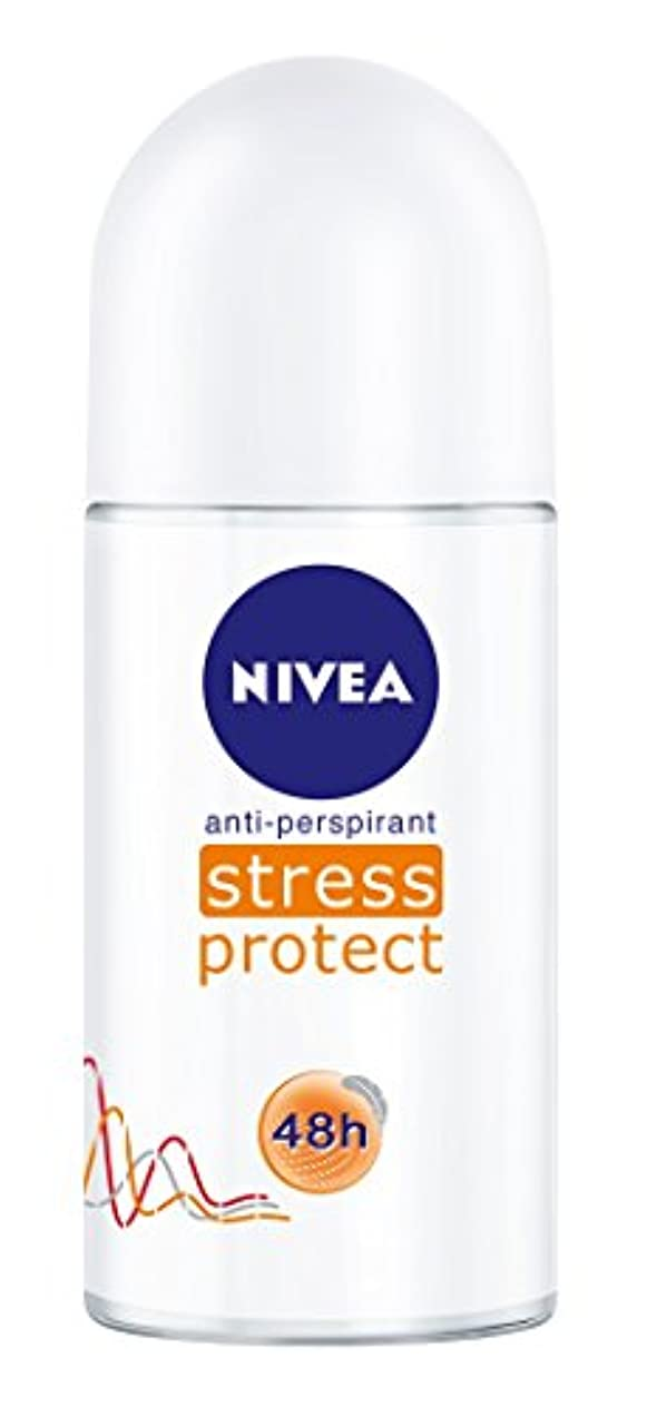 ロック解除ホテル考案するNivea Stress Protect Anti-perspirant Deodorant Roll On for Women 50ml - ニベア応力プロテクト制汗剤デオドラントロールオン女性のための50ml