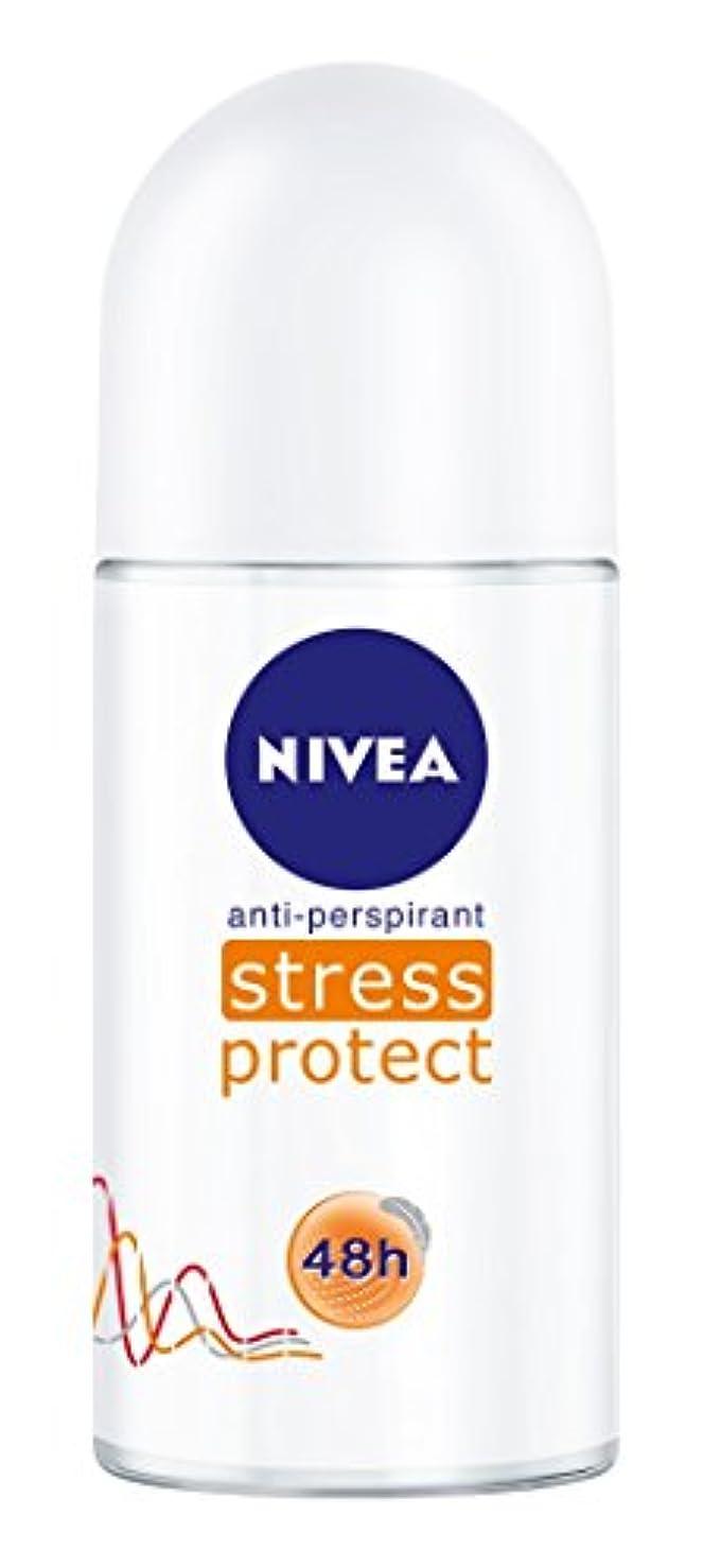 の配列遡るアスペクトNivea Stress Protect Anti-perspirant Deodorant Roll On for Women 50ml - ニベア応力プロテクト制汗剤デオドラントロールオン女性のための50ml