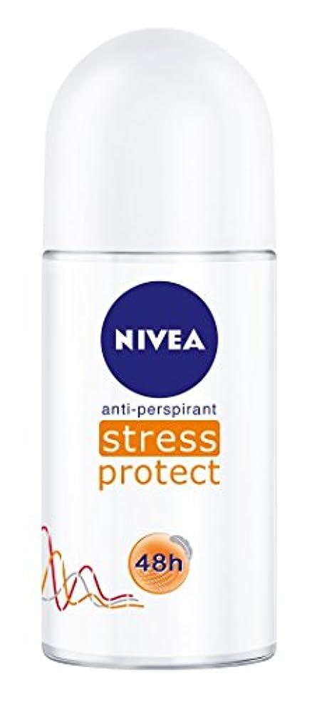カウンターパートストラトフォードオンエイボンアコーNivea Stress Protect Anti-perspirant Deodorant Roll On for Women 50ml - ニベア応力プロテクト制汗剤デオドラントロールオン女性のための50ml