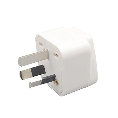 INIBUD Pack of 3 UK EU US to AU Australia NZ Travel Adapter White Plug