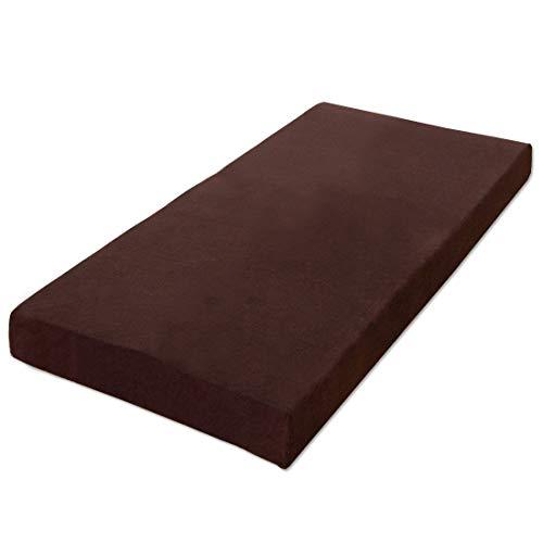 タンスのゲン 低反発マットレス 8cm セミダブル 耐圧分散 洗えるカバー付き ブラウン 13810005 14 【51961】