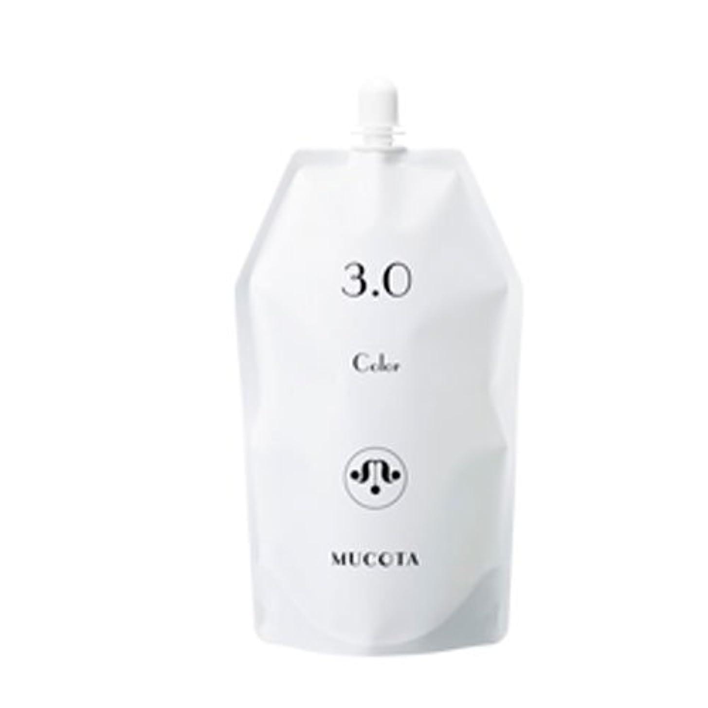 エキス振動する成分ムコタ ヘアカラー OX(3.0%/4.5%/6.0%) 各 1000ml【2剤】【オキシー】【グレイカラー?白髪染め】 (OX 3.0%)