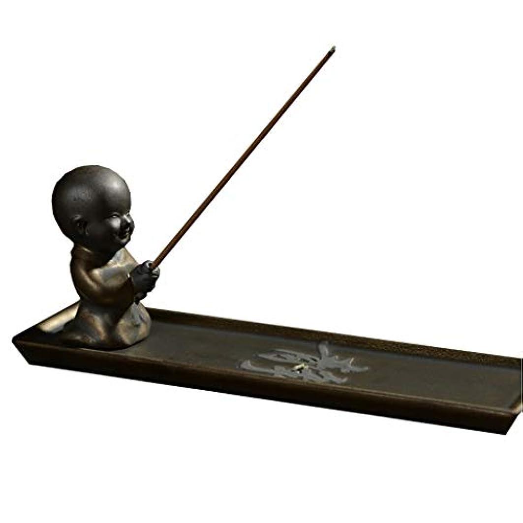 ペルーひいきにするクスクスホームアロマバーナー セラミックライン香バーナー茶セレモニー装飾スモールモンクサンダルウッド炉 アロマバーナー (Color : Metallic)