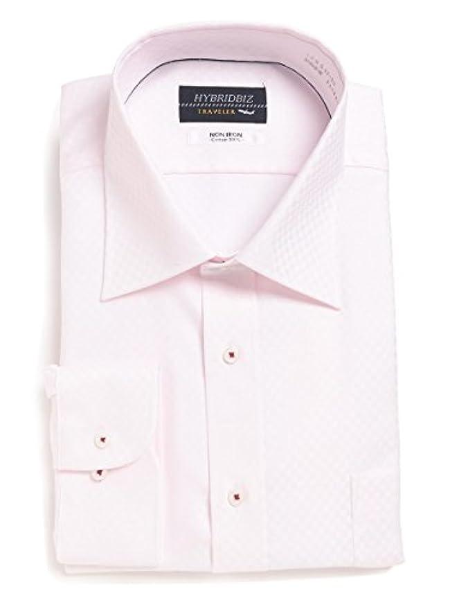 テメリティリーダーシップジェーンオースティン(ハイブリッドビズ) HYBRIDBIZ 大きいサイズ メンズ HYBRIDBIZ TRAVELER 超形態安定 綿100% レギュラーカラー 長袖 ワイシャツ ホワイト / 3L