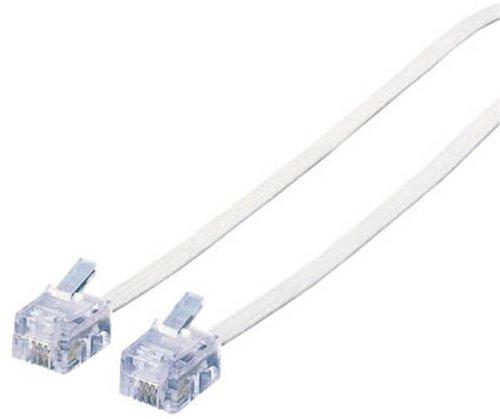 ELECOM スリムモジュラーケーブル 15m 白 MJ-15WH