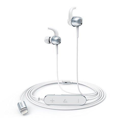 Anker SoundBuds Digital IE10 (ライトニング端子イヤホン)ハイレゾ対応 / Apple MFi認証 / IPX3防水規格 / マイク内蔵iPhone、iPad、 iPod各種対応 (シルバー) A3011041