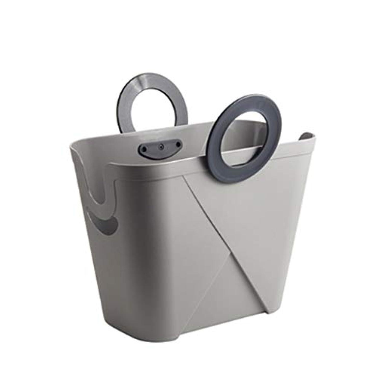 冒険飢アレンジSMMRB 携帯用の妨害の世帯の貯蔵のバスケットは、おもちゃの残骸の貯蔵、白灰色に使用することができます (色 : Gray)