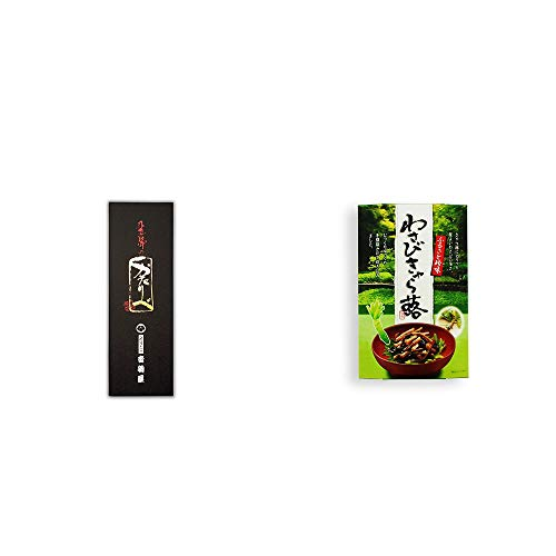 [2点セット] 岐阜銘菓 音羽屋 飛騨のかたりべ[6個入] ・わさびきゃら蕗(180g)