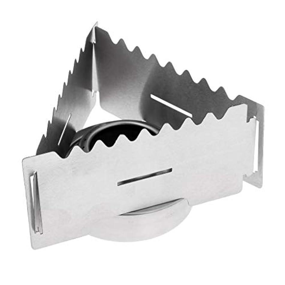 スカルク優越忘れるPerfeclan アルコールストーブ 三角 スピリットバーナー バーベキュー調理器具 折りたたみストーブ