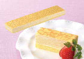 味の素)フリーカットケーキ ミルクレープ 480g70×360×33mm