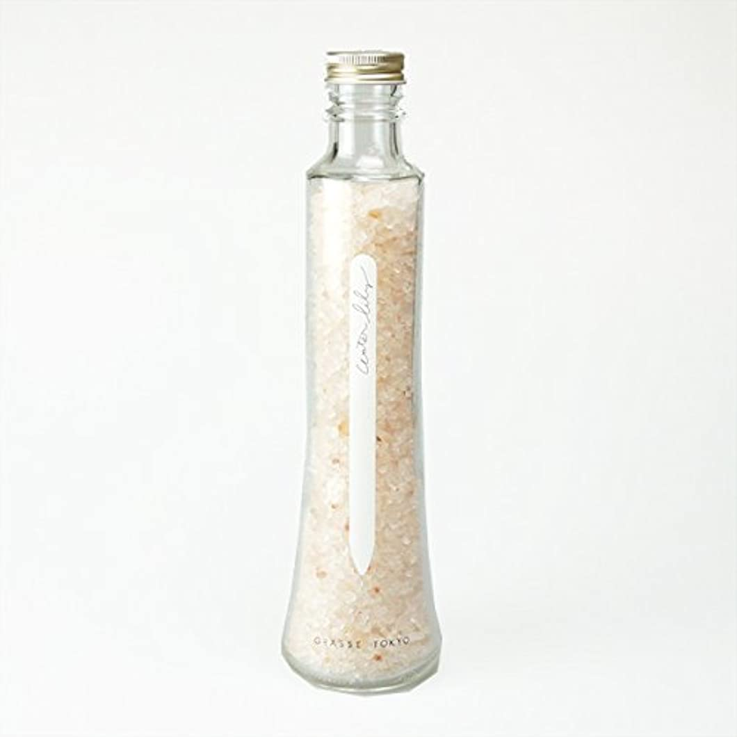 管理しますゆりかご露出度の高いグラーストウキョウ フレグランスソルト(浴用、12回分ボトル) Water lily 360g