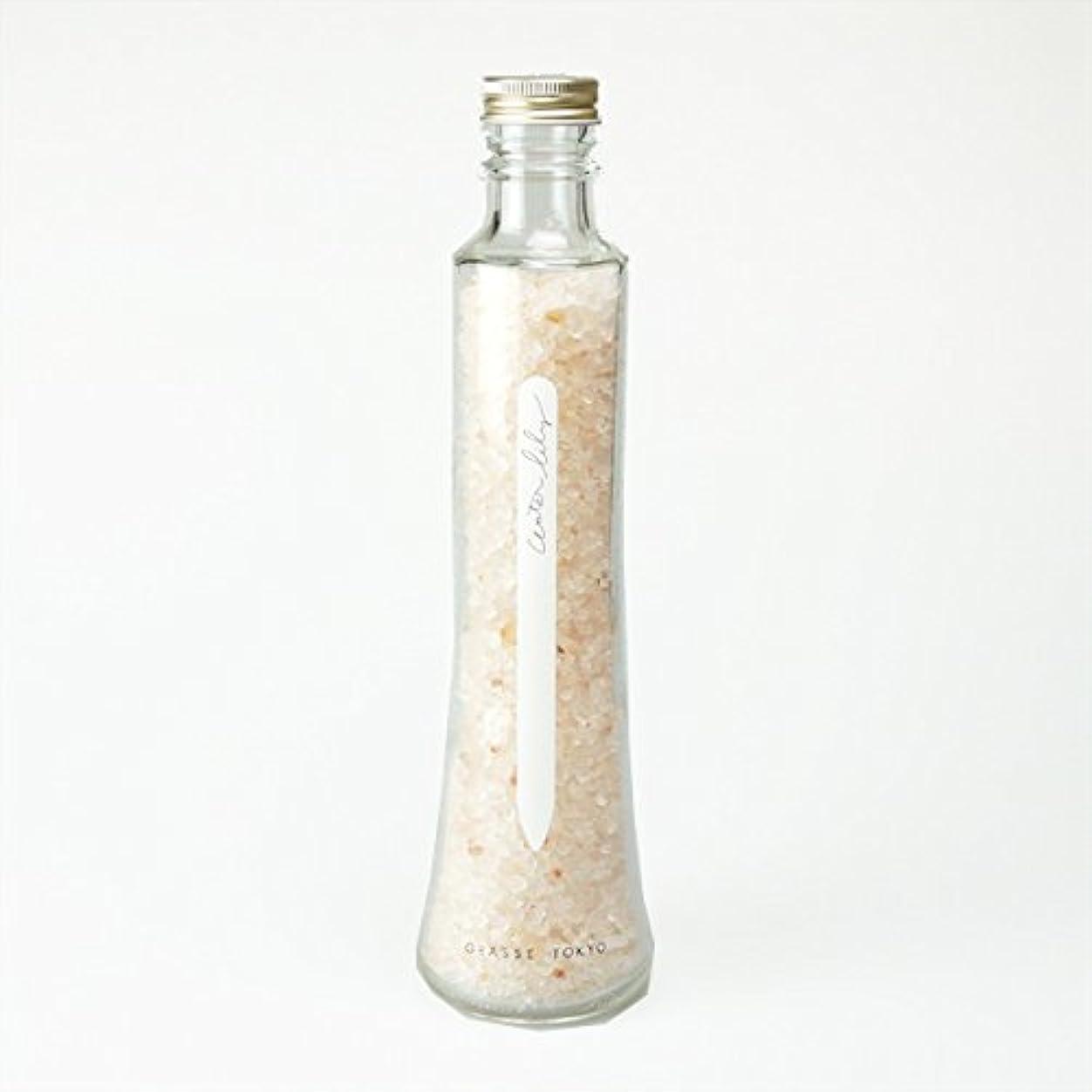 まともなに慣れ廃止するグラーストウキョウ フレグランスソルト(浴用、12回分ボトル) Water lily 360g