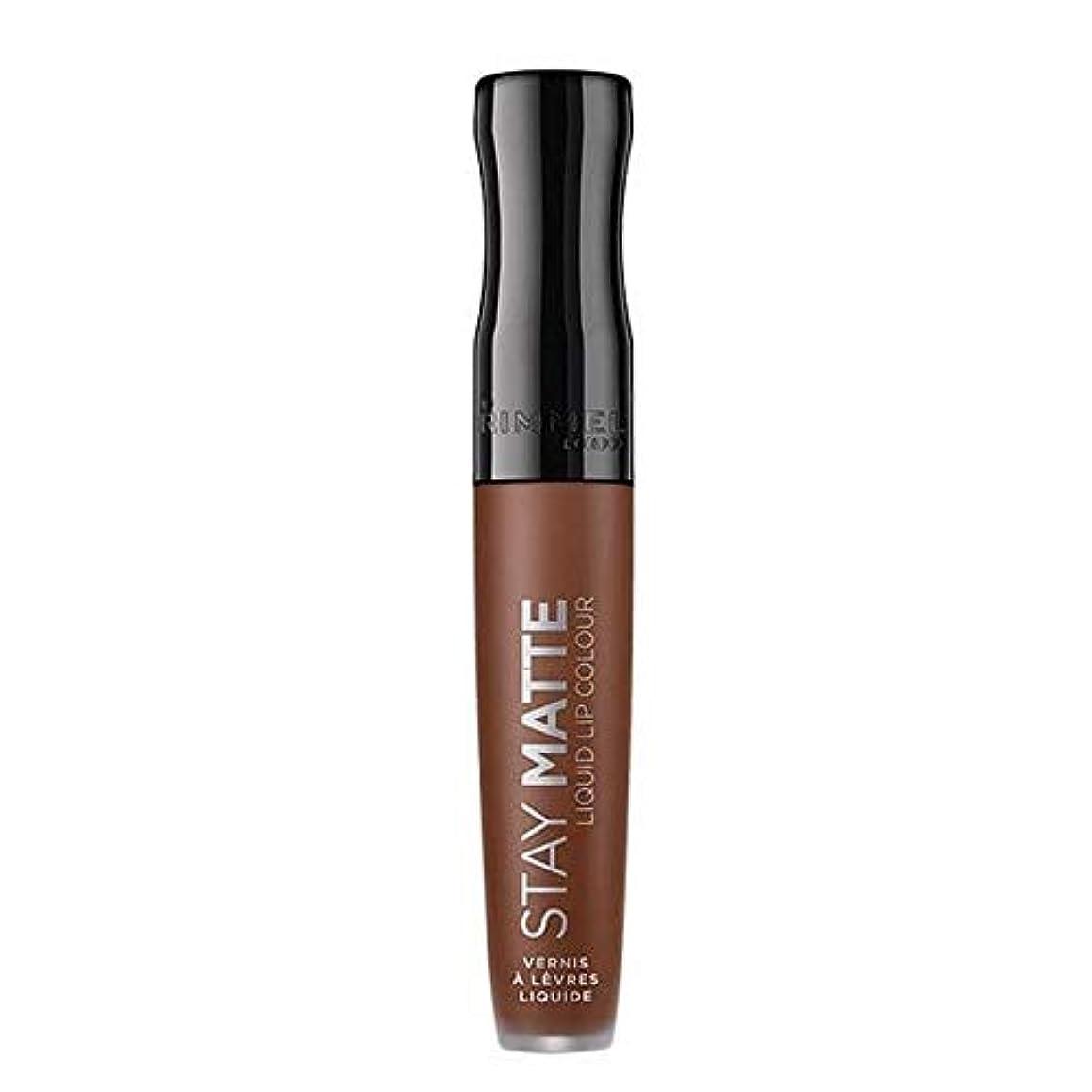 猟犬民間人チョコレート[Rimmel ] スキャンダラスリンメルステイマット液体リップ口紅 - Rimmel Stay Matte Liquid Lip Lipstick Scandalous [並行輸入品]