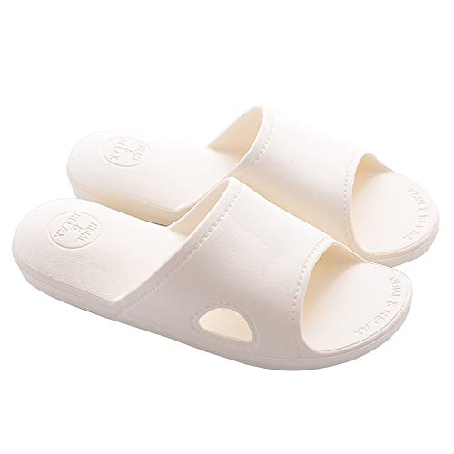 Mianshe 北欧 超軽量 サンダル スリッパ 抗菌衛生 歩きやすい 滑り止め 来客用 男女兼用 アイボリー XXL
