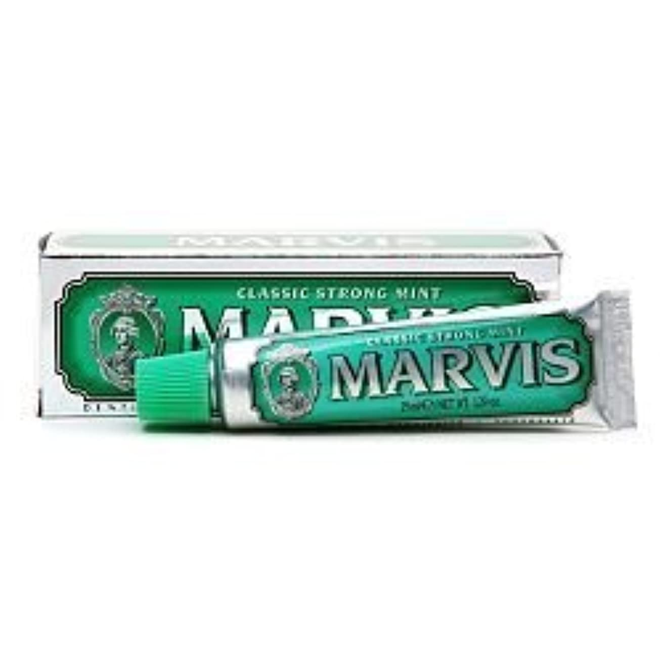 インスタントこどもの宮殿混乱Marvis Travel Sized Toothpaste, Classic Strong Mint 1.29 oz (25 ml) (Qunatity of 4) by Marvis [並行輸入品]
