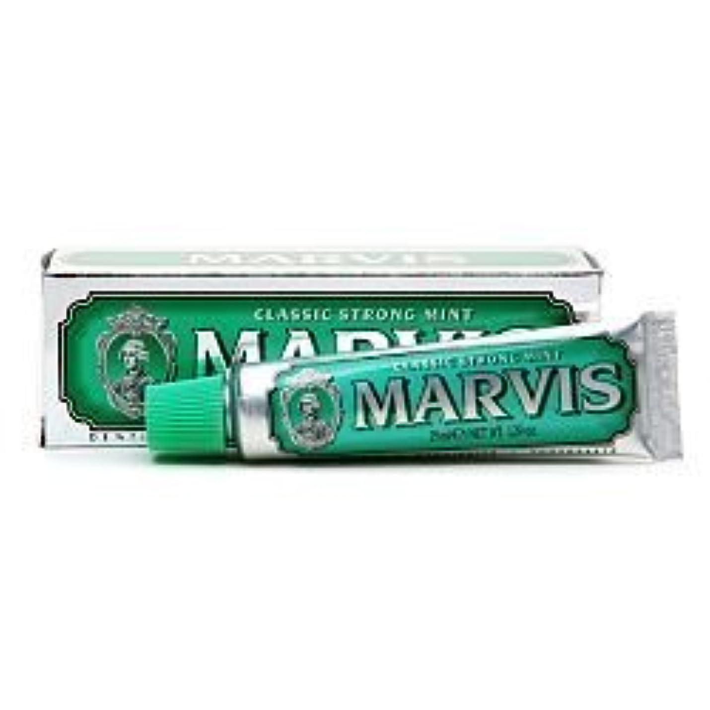 ましい溶けた納得させるMarvis Travel Sized Toothpaste, Classic Strong Mint 1.29 oz (25 ml) (Qunatity of 4) by Marvis [並行輸入品]
