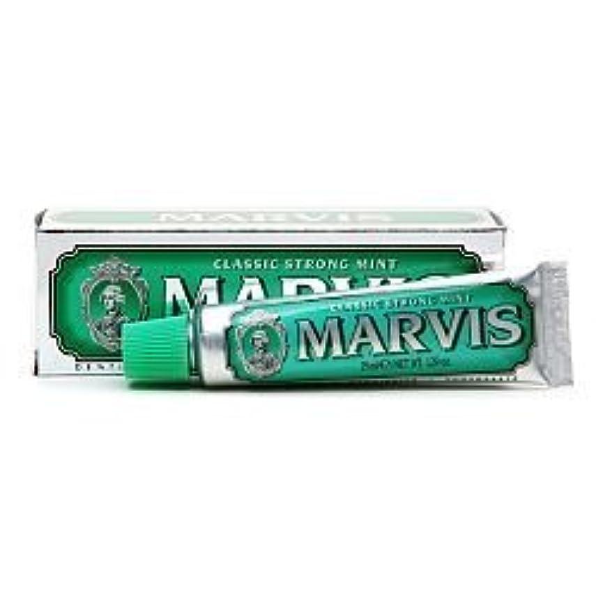 脊椎寄生虫山岳Marvis Travel Sized Toothpaste, Classic Strong Mint 1.29 oz (25 ml) (Qunatity of 4) by Marvis [並行輸入品]