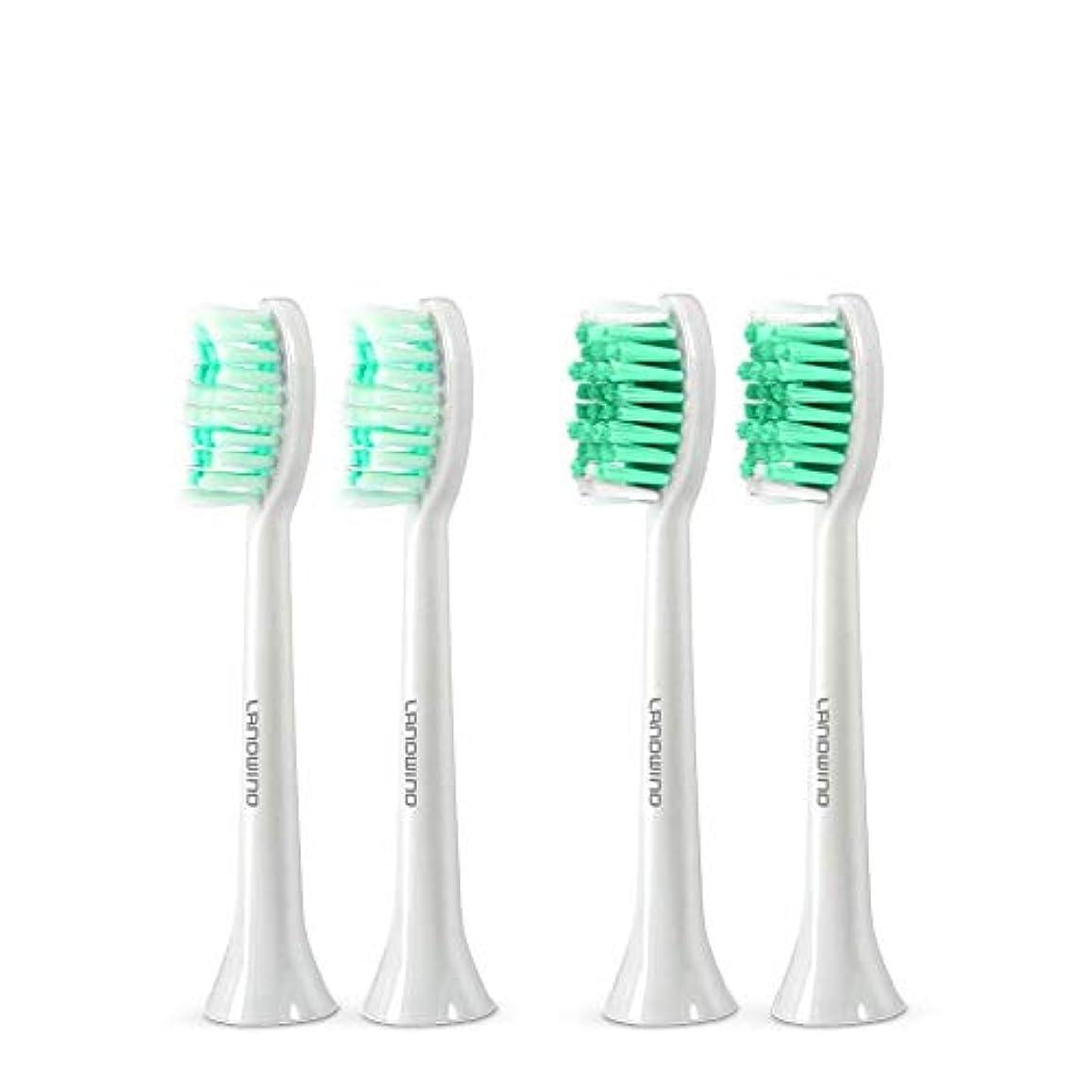 米ドル苦行意義歯ブラシ 替えブラシ4本入り 口内ケアキット 防水&水洗可 ホワイト