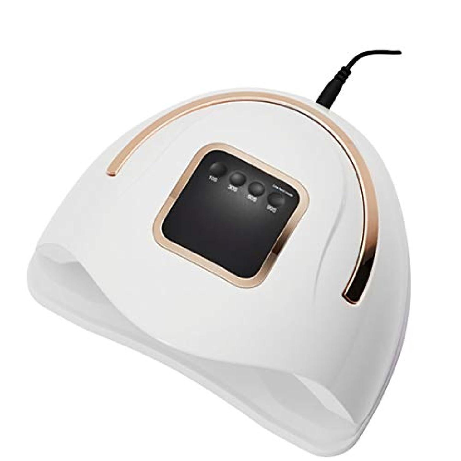 アンテナタワーアグネスグレイネイルプロフェッショナルDIYデザインツールのすべてのジェルネイルポリッシュ用72WネイルライトマニキュアUV LEDネイルドライヤー、