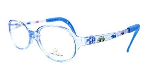 TOMATO GLASSES トマトグラッシーズ 安全 安心 軽量 柔らかい キッズ Jr ジュニア 子供用 メガネ フレーム TKAC-BL サイズ43 ブルー クリアブルー