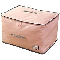 大型ストレージバッグポータブル折りたたみソリッドカラーオックスフォード布防水防湿高品質の旅行主催者羽毛布団キルト衣類移動仕上げ荷物預かり袋62 * 42 * 37センチメートル (色 : Pink)