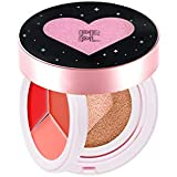 PRPL Kiss and Heart Double Cushion (Black Edition) #23 Pure Beige - Korean Make-up, Cushion Foundation, Korean...
