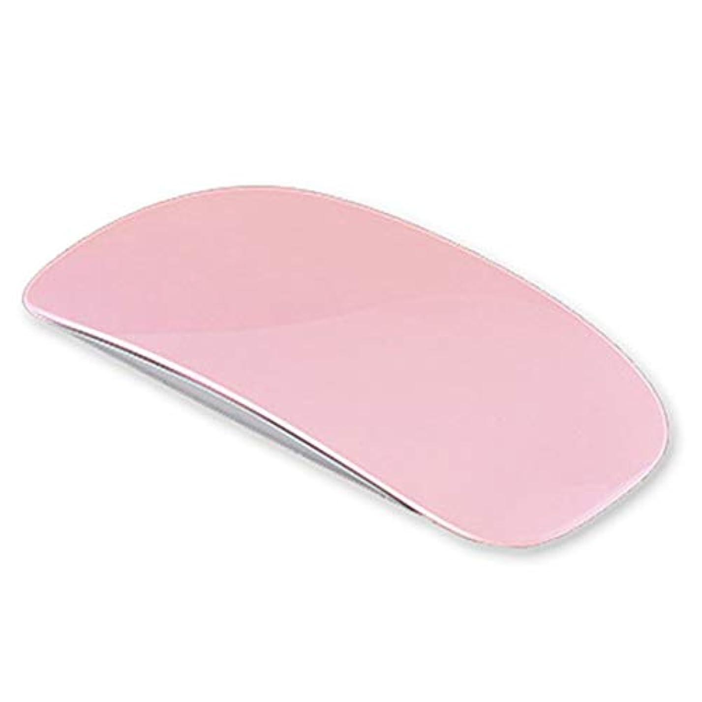 予測子カードベールネイルドライヤー UV/LEDライト硬化用ライトUSB式 マウス形 折りたたみ式 ミニ携帯便利(ピンク)