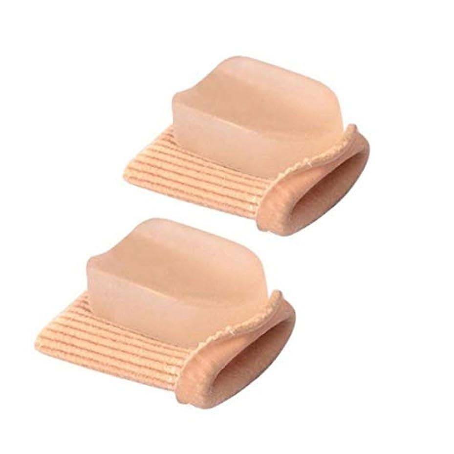 高弾性つま先ストレート矯正ハンマーつま先外反母gus矯正包帯つま先セパレーターフットケア包帯-スキンカラーS