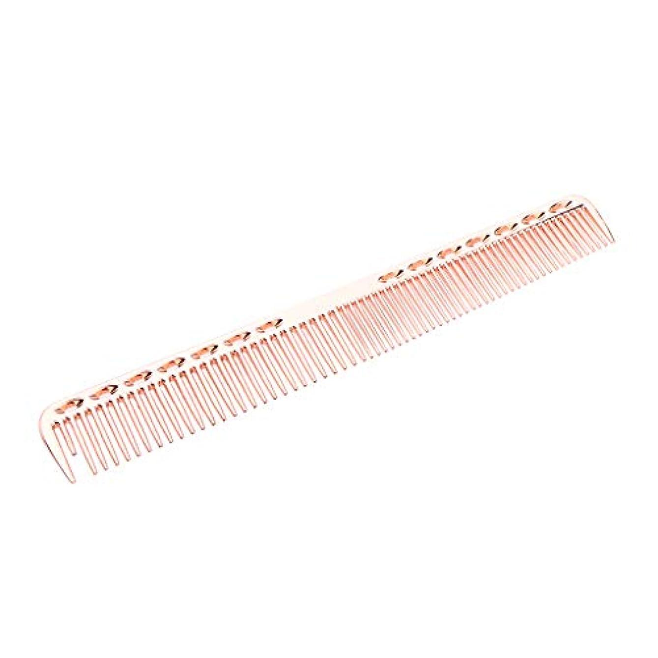 ゾーンオフ正当化する帯電防止櫛 頭皮マッサージ ヘアコーム ヘアブラシ 5色選べ - ローズピンク