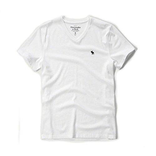 アバクロ 正規 Tシャツ メンズ Vネック ワンポイント アバクロンビー&フィッチ メンズ 半袖 Abercrombie&Fitch [並行輸入品]