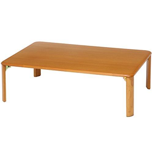 不二貿易 折脚ローテーブル ナチュラル 1050MTNA 折りたたみ式 幅105x奥行75cm 91826