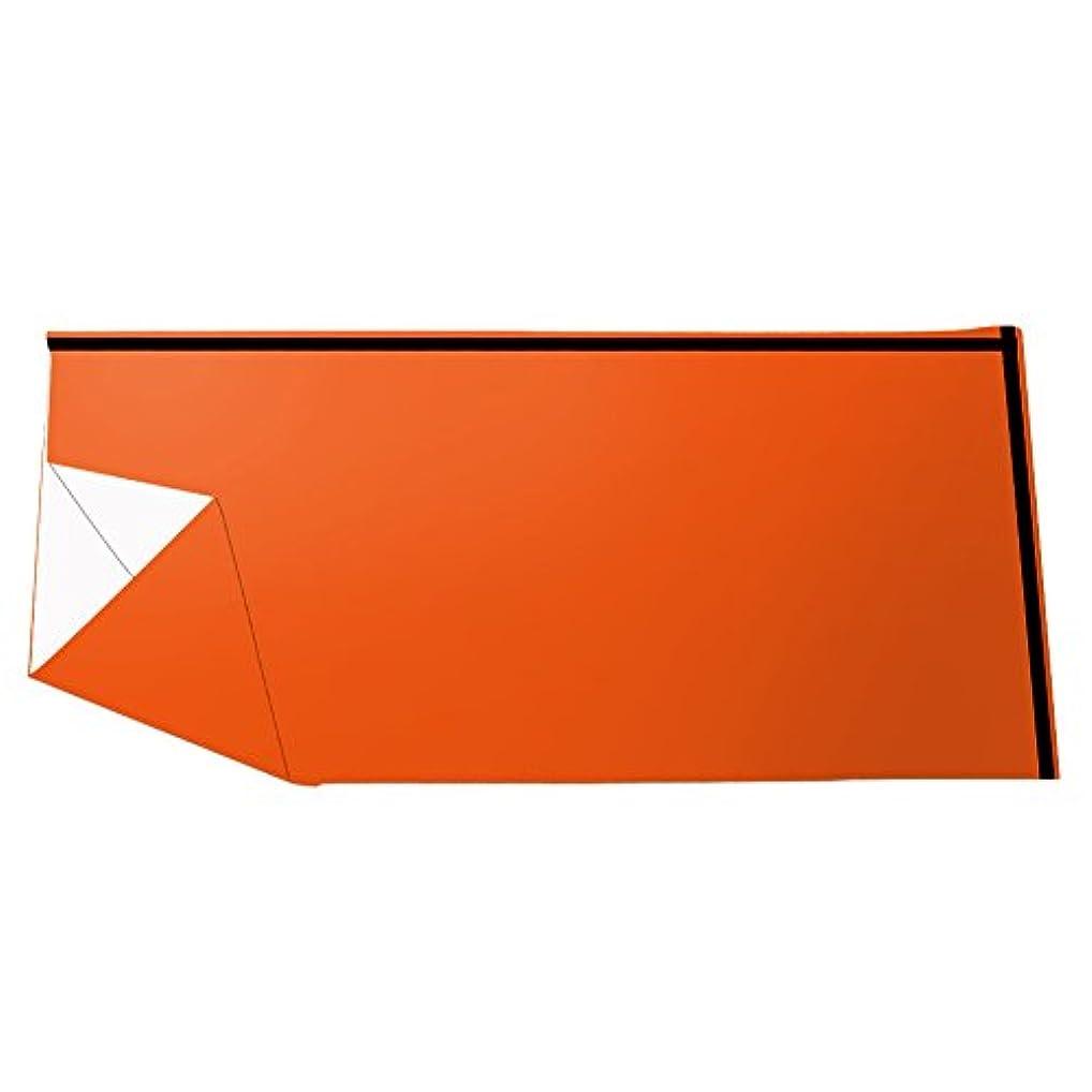 コンセンサス切断する独裁寝袋 封筒型 緊急 折り畳み式 コンパクト 多用途 再利用可能 防水防風 保温性 バイバル キャンプ 旅行用 オレンジ