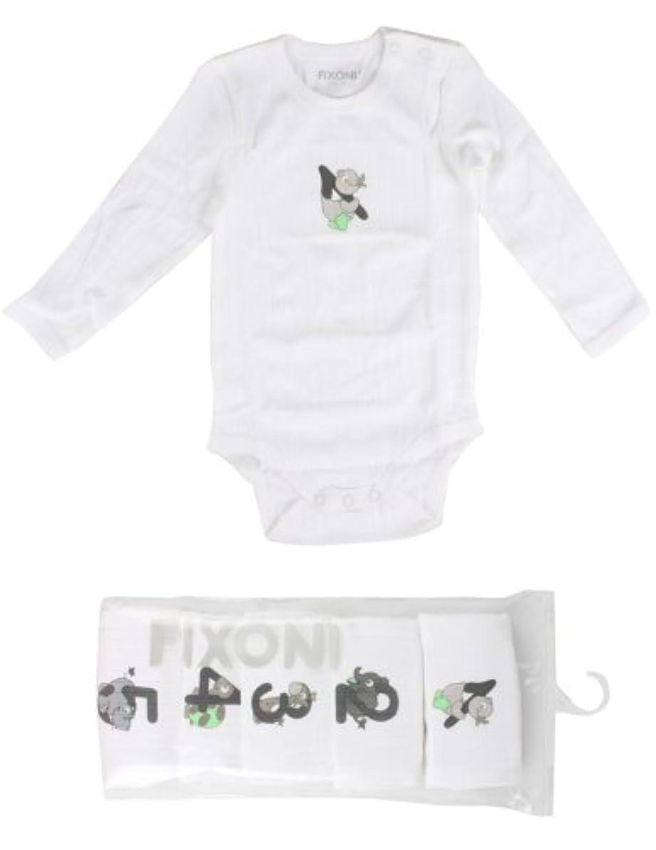 電報不利信頼性のある(フィクソーニ)FIXONI 綿100%長袖ボディスーツ 2着セット