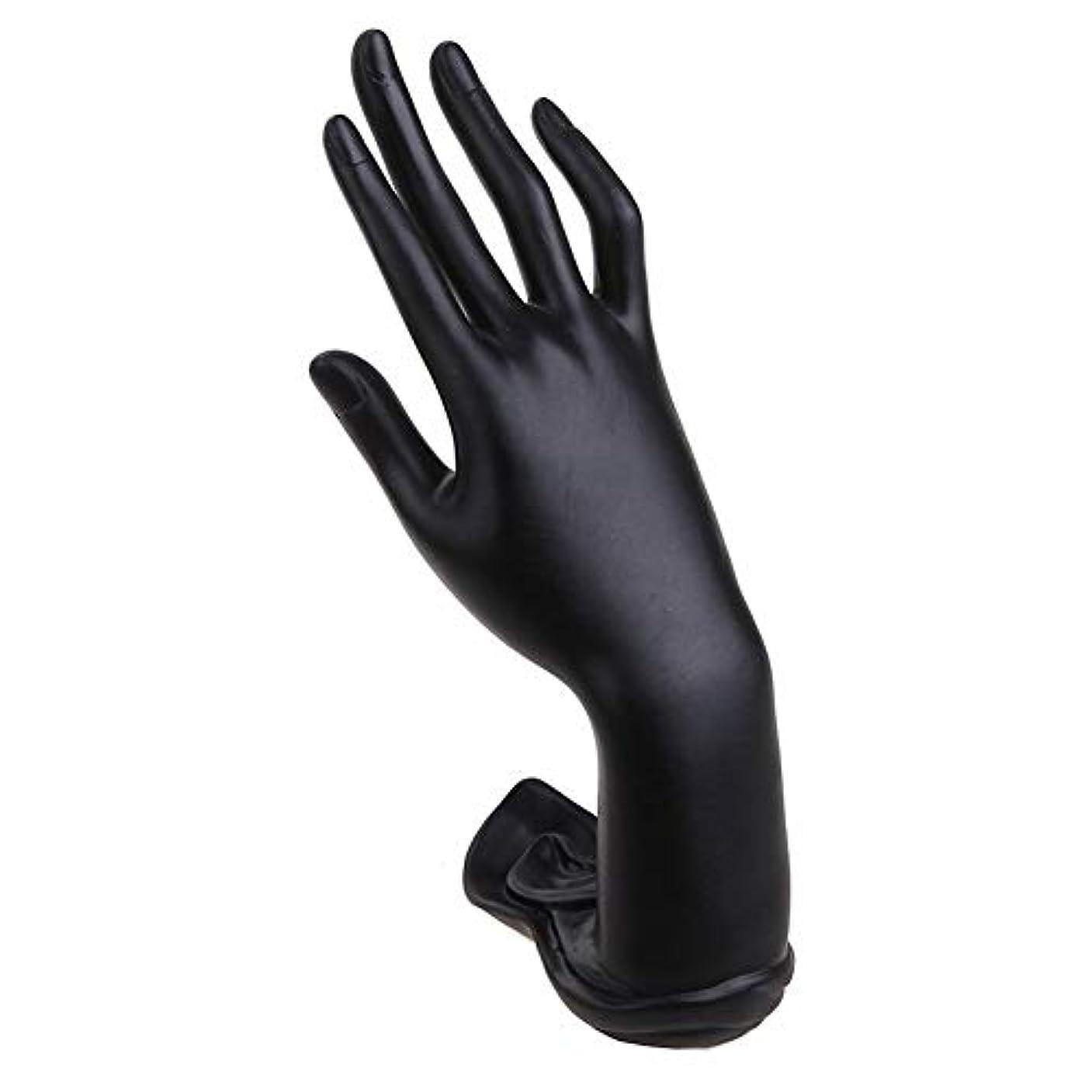 時限られた別のジュエリー ディスプレイ ホルダー ハンドシェイプ ネックレススタンド 手指 ブレスレット リング スタンド 指輪置き 展示 装飾 指輪用 (Color : ブラック)