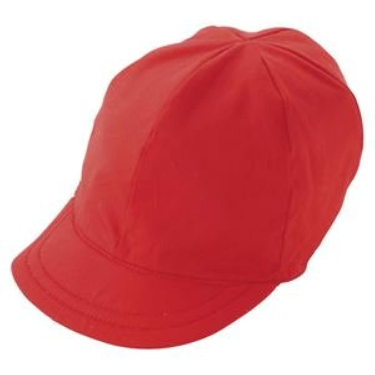 誤って中央値風味(業務用セット) 三和商会 つば付紅白帽子 日清紡綿ブロード S-12 中 1個入 【×5セット】