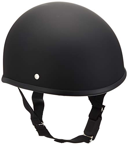 バイクパーツセンター ヘルメット ハーフ ダックテール マットブラック XL (頭囲 61cm~62cm未満) 711805