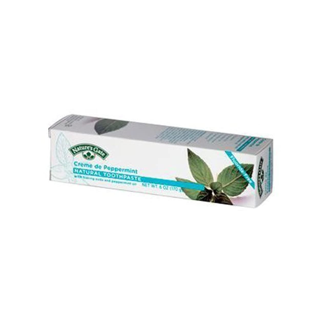 抽出未来粘着性Natures Gate Natural Toothpaste Cr?me De Peppermint - 6 oz - Case of 6 by NATURE'S GATE [並行輸入品]
